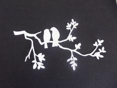 """DÉCOUPE """"branche oiseaux"""" .....pour scrapbooking, carterie, mini album,deco…"""