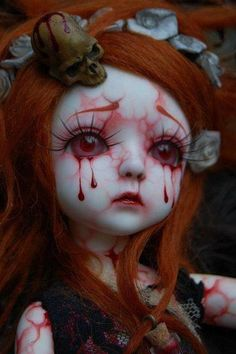 CREEPY DOLL but beautiful-would be a gorgeous makeup