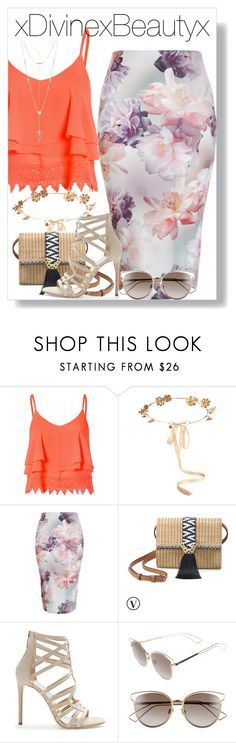 """""""Untitled No.204"""" by xdivinexbeautyx ❤ liked on Polyvore featuring Glamorous, Eugenia Kim, New Look, Stella & Dot, Tamara Mellon, Christian Dior and House of Harlow 1960"""
