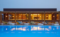 Jennifer Anniston, Brad Pitt, and Rihanna have all vacationed at this iconic Crete resort, which is fresh off a multimillion-dollar expansion. Now part of Marriott's Autograph Collection, the property has added 28 freestanding villas in two- and three-bedroom configurations, with full kitchens (and a direct line to the chef), private outdoor hot tubs, and a VIP beach section.
