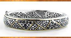John Medeiros Jewelry collections Black Stingray Bangle Bracelet