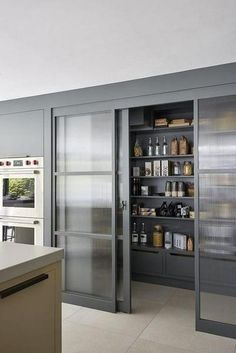Modern Kitchen Interior Remodeling 45 Unique Kitchen Pantry Ideas with Form and Function Elegant Kitchen Design, Interior Design Kitchen, Home Decor Kitchen, Pantry Design, Kitchen, Elegant Kitchens, Kitchen Remodel, Kitchen Renovation, Kitchen Pantry Design
