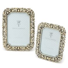 15be7d2b35e96 Eleanor Crystal and Pearl Photo Frames (Set of 2)
