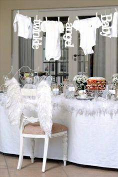 Angelic baby shower!! Fab
