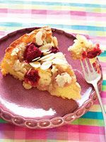 The combination of raspberry and almond is a sweet way to top off any dinner.  Plus, it's a low-calorie way to enjoy a piece of cake! via @SparkPeople