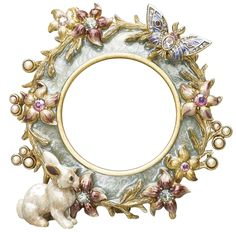 Cute white bunny rabbit frame with a butterfly. Яндекс.Фотки