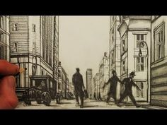 How to Draw a Street in 1-Point Perspective: New York City 1926 - YouTube