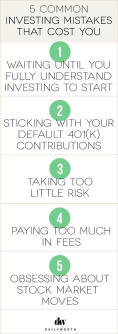 5 Common Investing Mistakes That Cost You