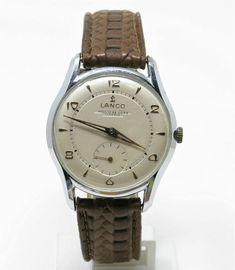 Orologio Lanco caliber 1305 mechanic watch 60's clock vintage horloge reloy Clock Vintage, Omega Seamaster, Mechanical Watch, Cosmic, Watches, Ebay, Accessories, Wristwatches, Clocks