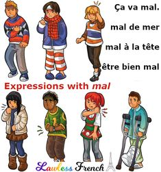 """Mal"", the #French word for ""bad"", ""pain"", and other assorted unpleasantries, can be used to express a lot of things. #lawlessfrench #learnfrench"