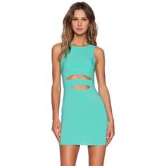 • NBD sea green cut out dress size XS • 98% polyester, 2% spandex. Fully lined. Zipper back closure. No trades! Available in L as well. Nbd x naven twins  Dresses Mini