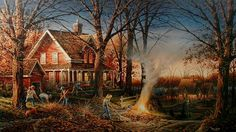 Terry Redlin ,Autumn Evening