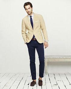 Khaki Stone Blazer w/Navy Pant