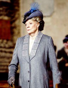 hat evolution- no longer Edwardian! Downton Abbey Season 6: Violet Crawley, Dowager Countess of Grantham