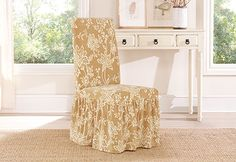 Sure Fit Slipcovers Stretch Verona Long Dining Chair Covers - Dining Chair Cover