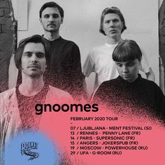 "@gnoomes_official: ""First tour of 2020! Gonna perform at the amazing @ment_ljubljana. Then we're driving to France for…"""