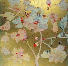 Reza Derakshani (Iranian, b. 1952), Rose and Nightingale Series, 2007. Mixed media on canvas, 150 x 150 cm.
