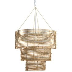 this Marbella Chandelier from the Coastal Contemporary event, Joss and Main. Jute and metal.