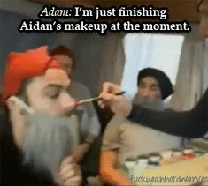 """""""The Hobbit"""" dwarf make-up exclusive! <- Gotta love these dorks.<- That´s too sexy for Aidan, we don´t want to give the wrong impresion #Hobbit cast #Dwarves"""