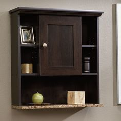 Bathroom Wall Mount Cabinet Medicine Storage Bath Wood Shelf Organizer Espresso #Cinnamon