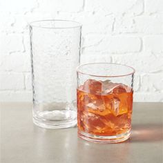 Shop play clear acrylic barware. Playful, ripple-texture glass moves the party outside in durable acrylic. Generously sized to serve a variety of drinks. Stackable, too.