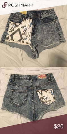 Aztec Shorts Aztec high waist shorts. Acid washed. If you have any questions, please let me know! Shorts Jean Shorts