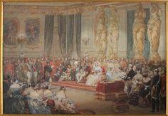 Réception officielle aux Tuileries, Eugéne Lami