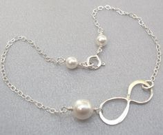 Sterling Silver Infinity Bracelet Choose Your by Kikiburrabeads