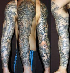 Religous Sleeve #tattoo #tattoos #blackandgrey #tattoosleeve #blackandgreytattoo