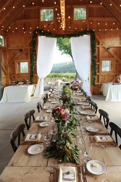 The old barn never looked so romantic!!  Linda
