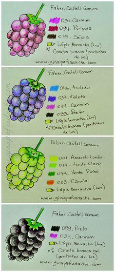 Atelier Gina Pafiadache: Sugestão de cores para os livros de colorir! #7 Confira as nossas recomendações!