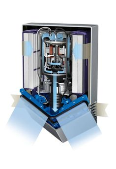 The Dyson Airblade V uses two sheets of 430mph air, angled at 115 degrees, to separate hands and scrape off water like a windscreen wiper.