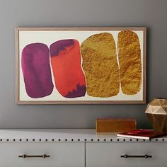 The Arts Capsule Ink Print - Modern Crimson #westelm - love these with the gold elements too