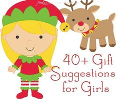 Christmas gift suggestions for preschool and elementary girls - Whether these gifts come from moms and dads, Santa, or the grandparents, they are sure to end up with endless hours of fun! Includes the best toys for children and families as well as books, puzzles, games, and other stuff.