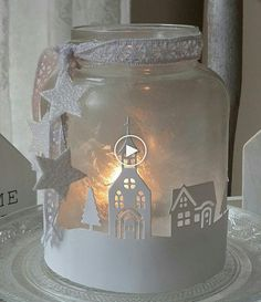 For at home and as a gift. I love this Ed # Christmas wind light …. For at home and also as … - New Site Christmas Jars, Christmas Lanterns, Christmas Holidays, Christmas Decorations, Mason Jar Crafts, Bottle Crafts, 242, Christmas Inspiration, Holiday Crafts