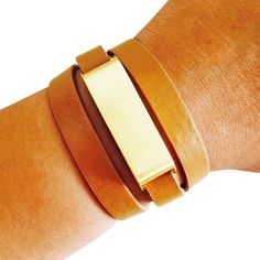 Fitbit Bracelet for FitBit Flex - The KATE Brushed Gold and Tan Premium Vegan Leather Buckle Fitbit Bracelet - Fashionably hide your Fitbit Flex!