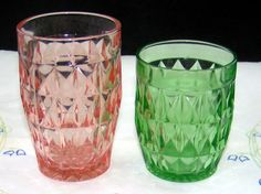 I love pink depression glass-I have pink tumblers & potcher in my collection. I think it is Windsor pattern.