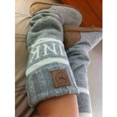 Victoria's Secret Love Pink Mukluk Slouchy Sweater Slipper Boots $35.00