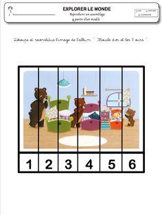 Boucle d'or et les 3 ours - La maternelle de Vivi Prepositions, Family Guy, Beer, Printables, Education, Reading, School, Kids, Books