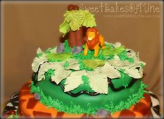 Lion King cake - fondant safari prints