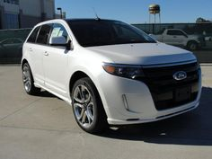 Ford Edge Sport White Exterior With Black Leather Interior Rims This Will Be My New Car When Im Ready To Buy Again