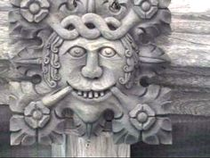 foliate heads from the cloister bosses, Durham Cathedral