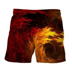 Dragon Ball Z Super Saiyan Aura Dope Streetwear Boardshorts Types Of Printing, Short Waist, Super Saiyan, Dragon Ball Z, Patterned Shorts, Street Wear, Cool Stuff, Boardshorts, Son Goku