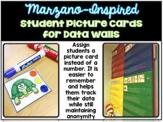 Teach Primary grades? Have a data wall in your classroom? Track data quickly and easily with these cute Marzano inspired picture cards. They are much easier for students to remember (as compared to multi-digit numbers) and help maintain anonymity as each student is assigned a different picture. I use these cards to track NWEA progress throughout the year.
