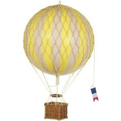 Travels Light Hot Air Balloon   Mobile for the new baby's nursery
