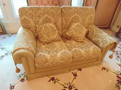 Lot 140 - A high back 2 seater sofa deeply padded back and seat for fantastic comfort and support elegant