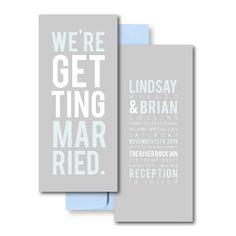 Grey Wedding Invitations, Blue Wedding Invitations, Poster Invitations