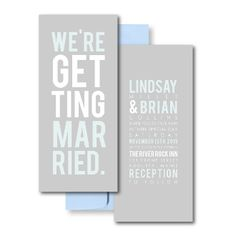 Grey Wedding Invitations, Blue Wedding Invitations, Poster Invitations