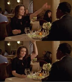 """30 Rock Season 1 Episode The Source Awards. """"Let's get dessert! Death by chocolate! 30 Rock, Death By Chocolate, Tina Fey, Season 1, 30th, Awards, Dessert, Movies, Life"""