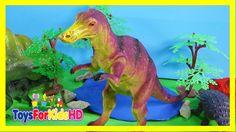 Dinosaurios para niños Edmontosaurio - Videos de Dinosaurios de Juguete ToysForKidsHD
